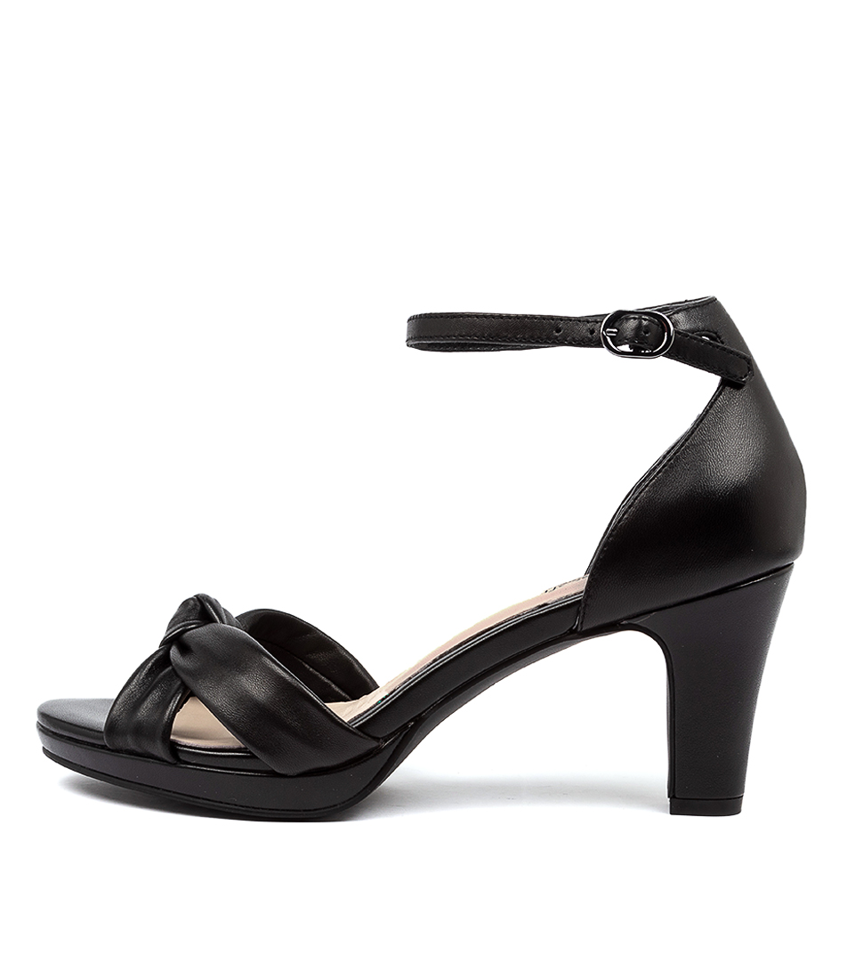 Buy Supersoft Syracuse Su Black Heeled Sandals online with free shipping