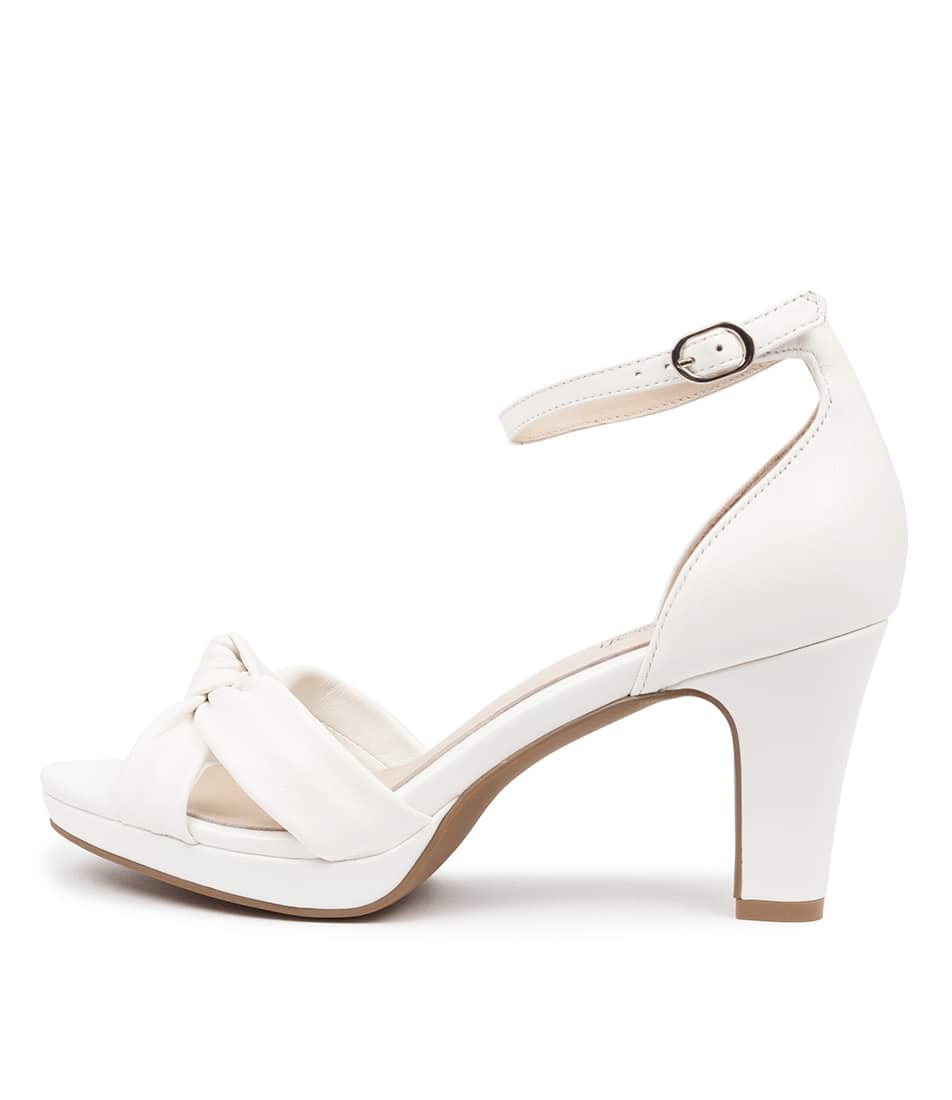 Buy Supersoft Syracuse Su White Heeled Sandals online with free shipping