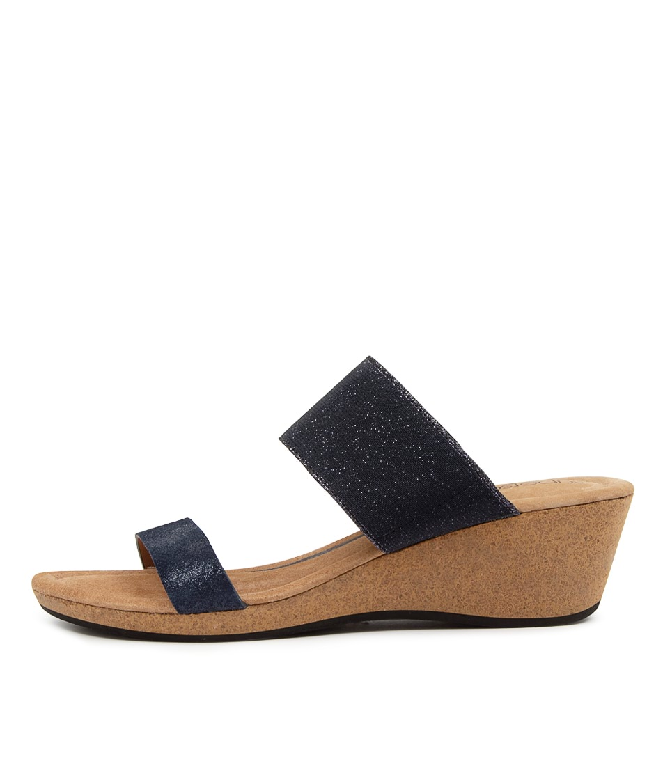 Buy Supersoft Brasillia Su Navy Metallic Heeled Sandals online with free shipping