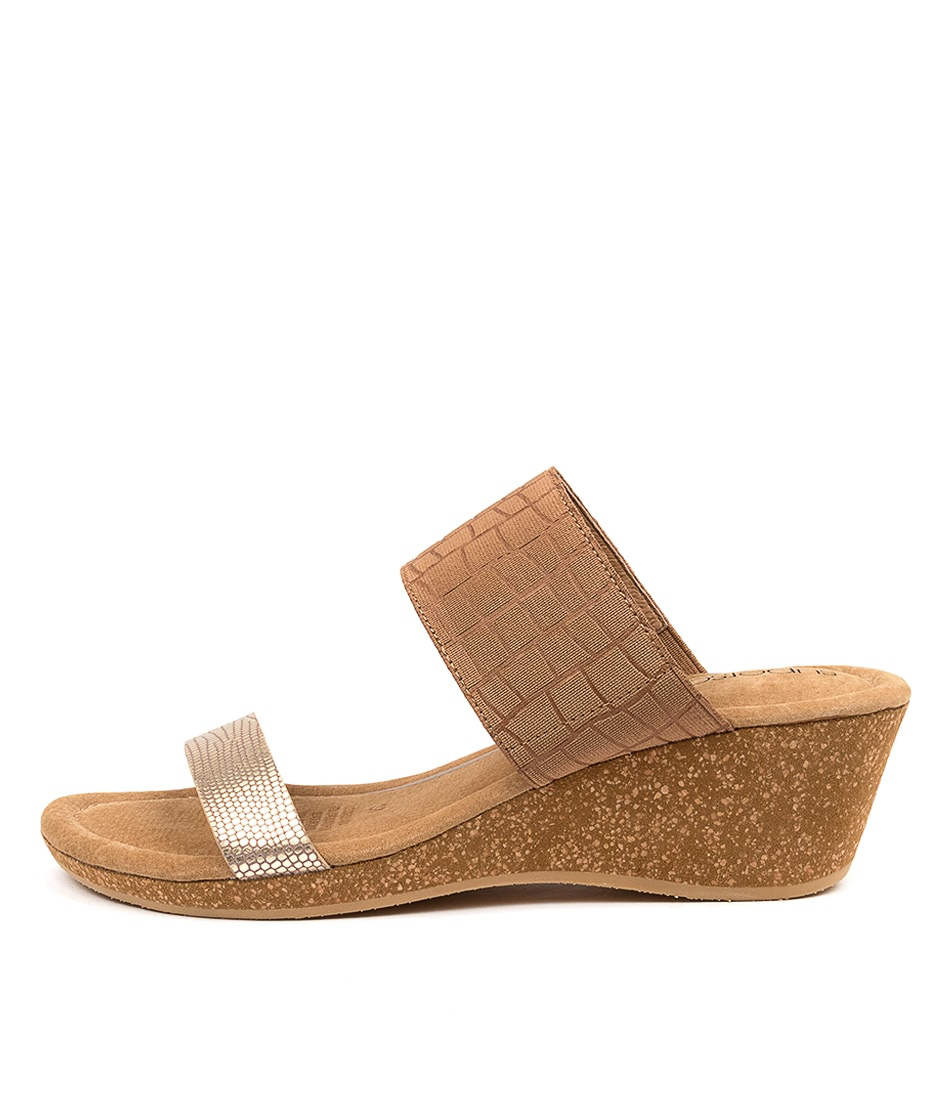 Buy Supersoft Brasillia Su Platinum Tan Heeled Sandals online with free shipping