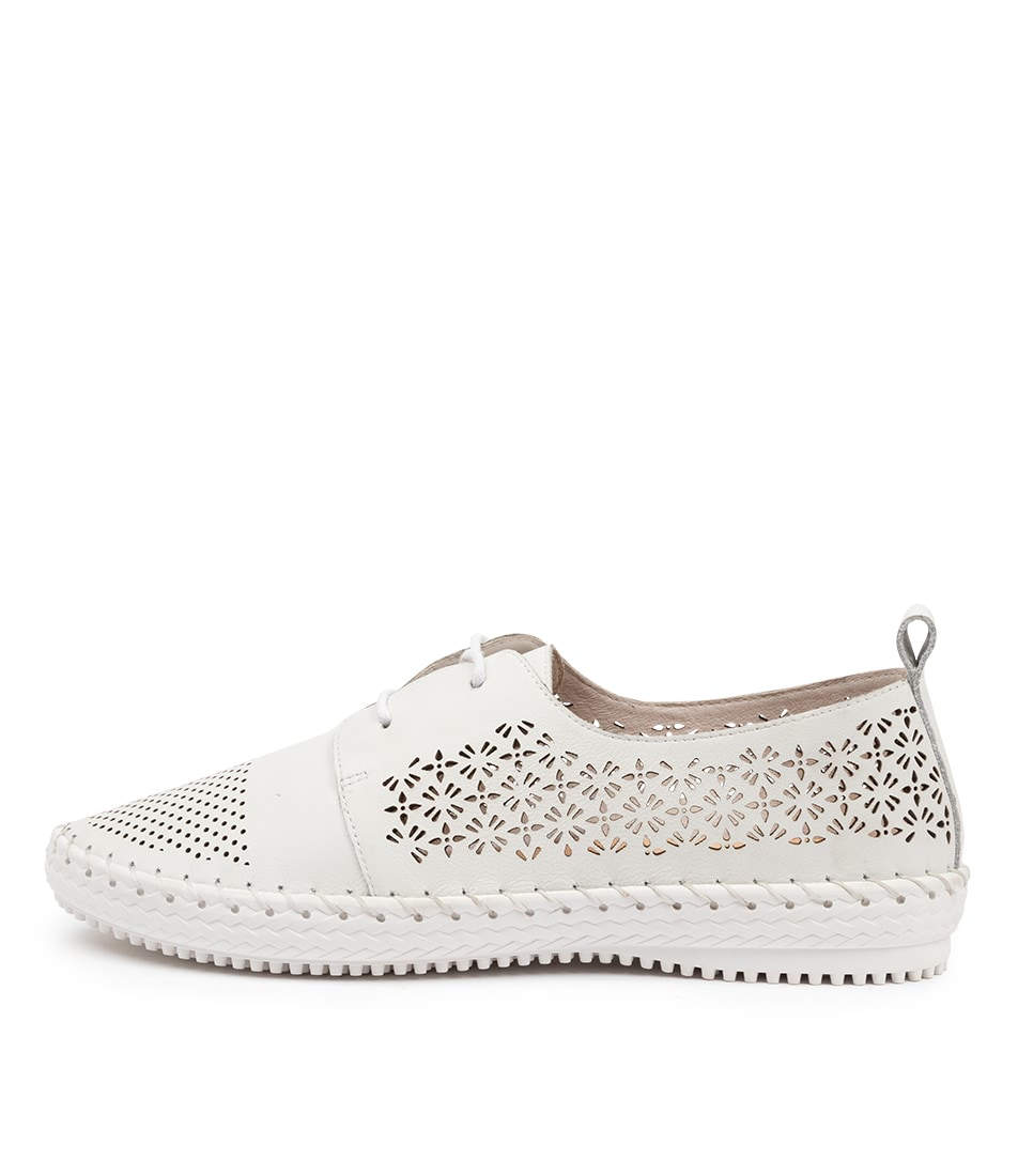 Buy Supersoft Watsonia Su White White Sole Flats online with free shipping
