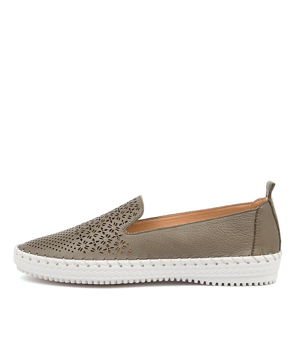 Buy Supersoft Winterberry Su Olive White Sole Flats online with free shipping