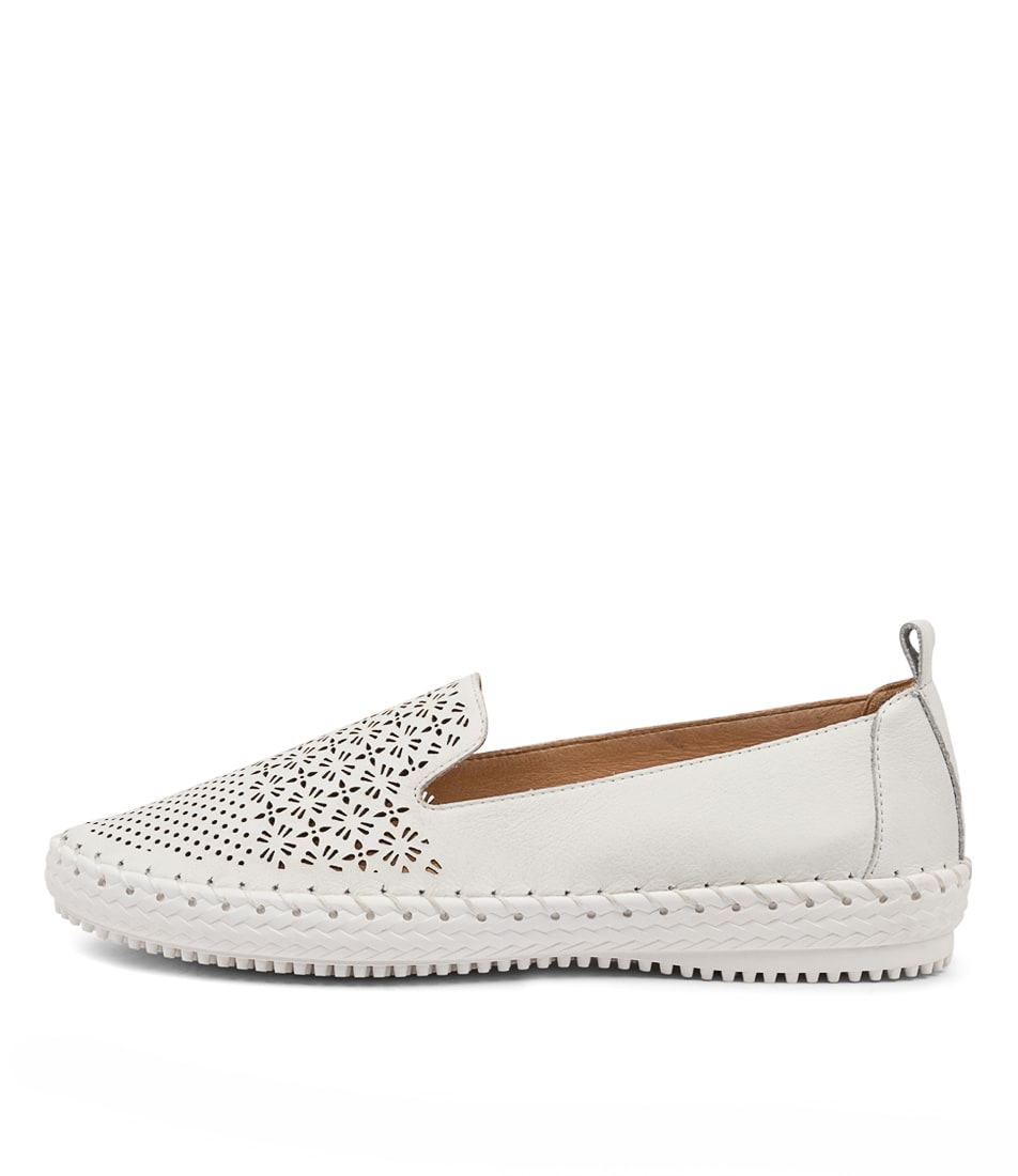 Buy Supersoft Winterberry Su White White Sole Flats online with free shipping