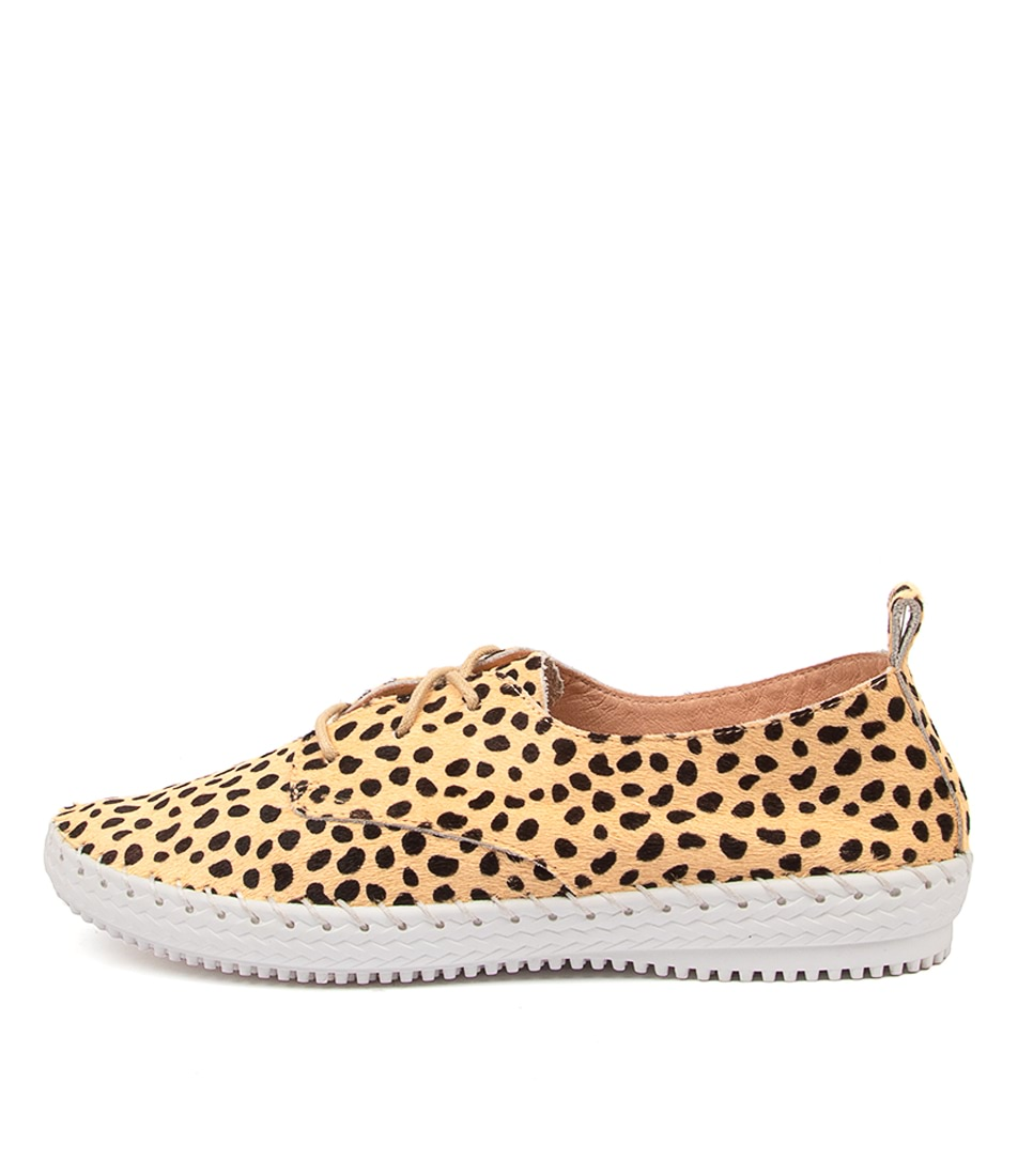 Buy Supersoft Waterlilie Su Cheetah White Sole Flats online with free shipping