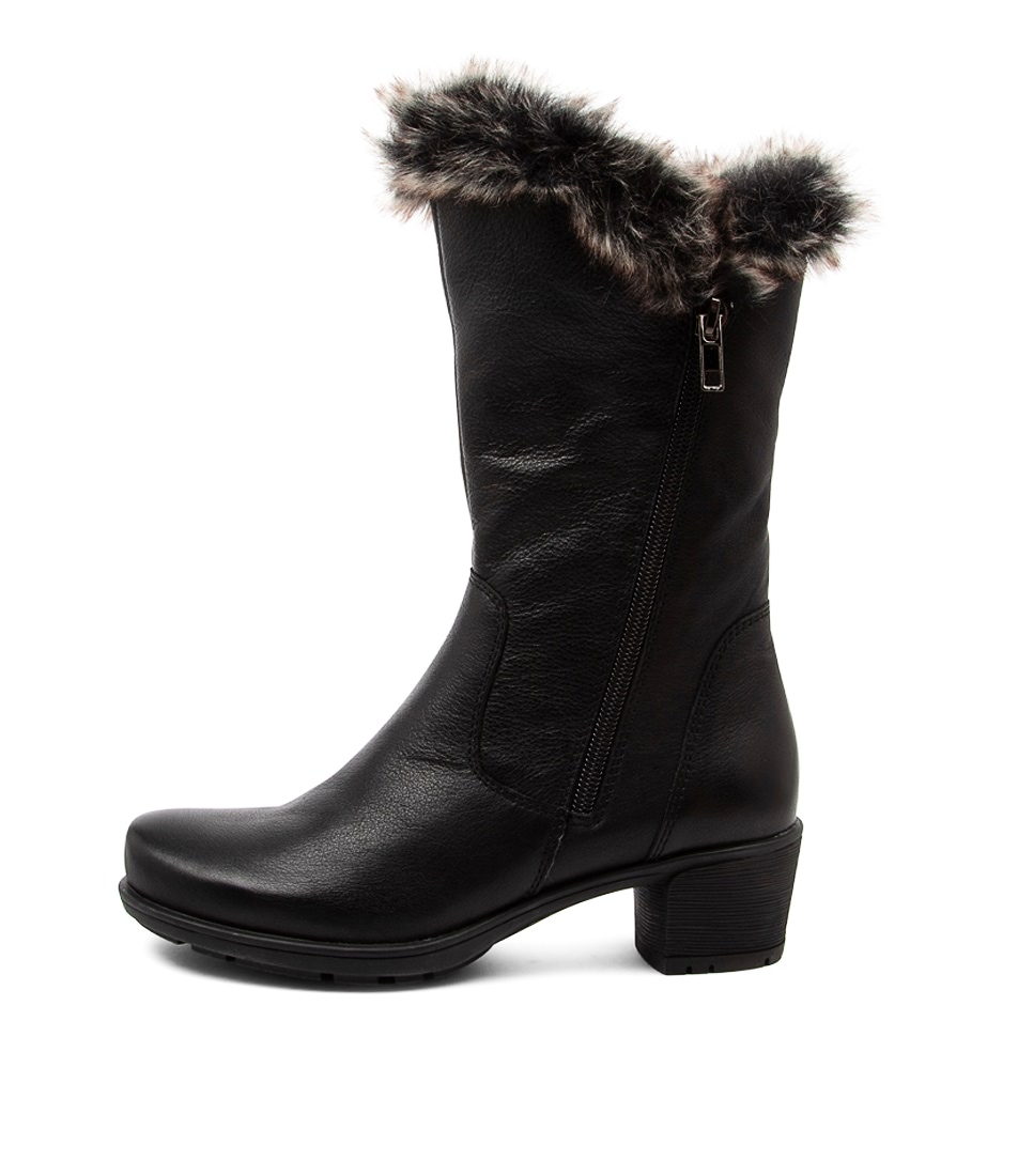 Buy Supersoft Iris Su Black Grey Multi Calf Boots online with free shipping