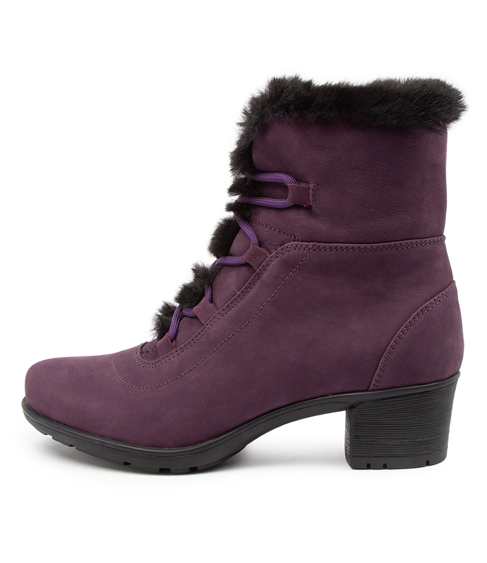 Buy Supersoft Izzy Su Purple Black Ankle Boots online with free shipping