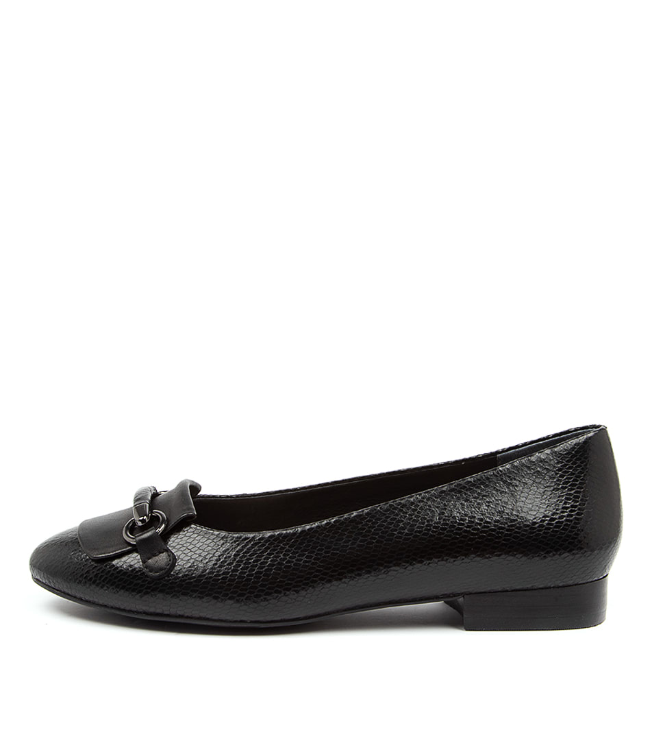 Buy Supersoft Addington Su Black Flats online with free shipping
