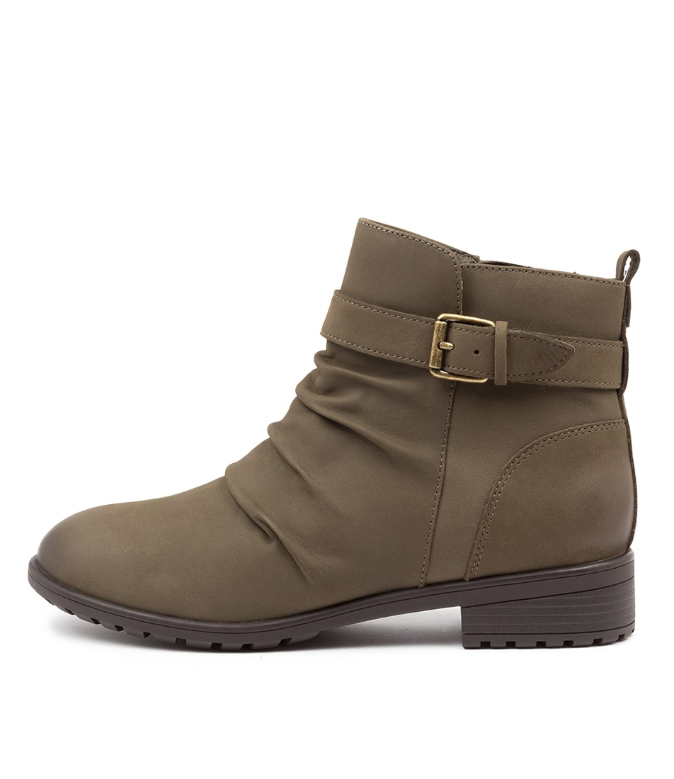 Buy Supersoft Edithvale Su Khaki Ankle Boots online with free shipping