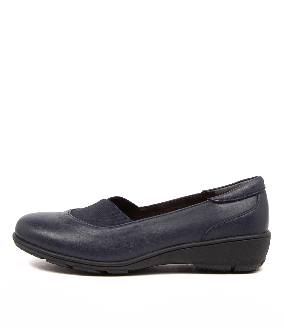 Buy Supersoft Qamra Su Navy Flats online with free shipping