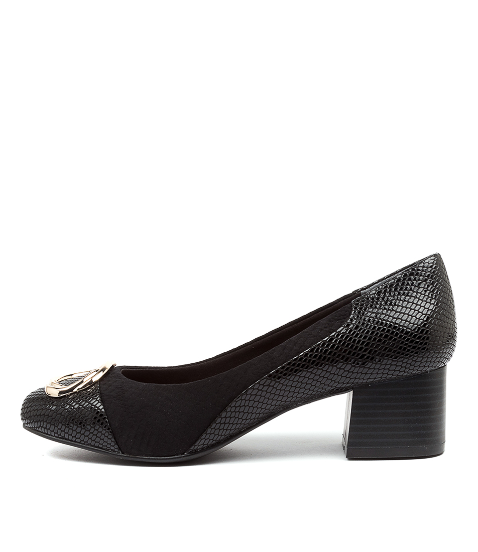Buy Supersoft Bamboo Su Black High Heels online with free shipping