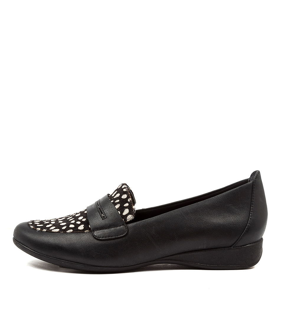 Buy Supersoft Highton Su Black & Whi Flats online with free shipping