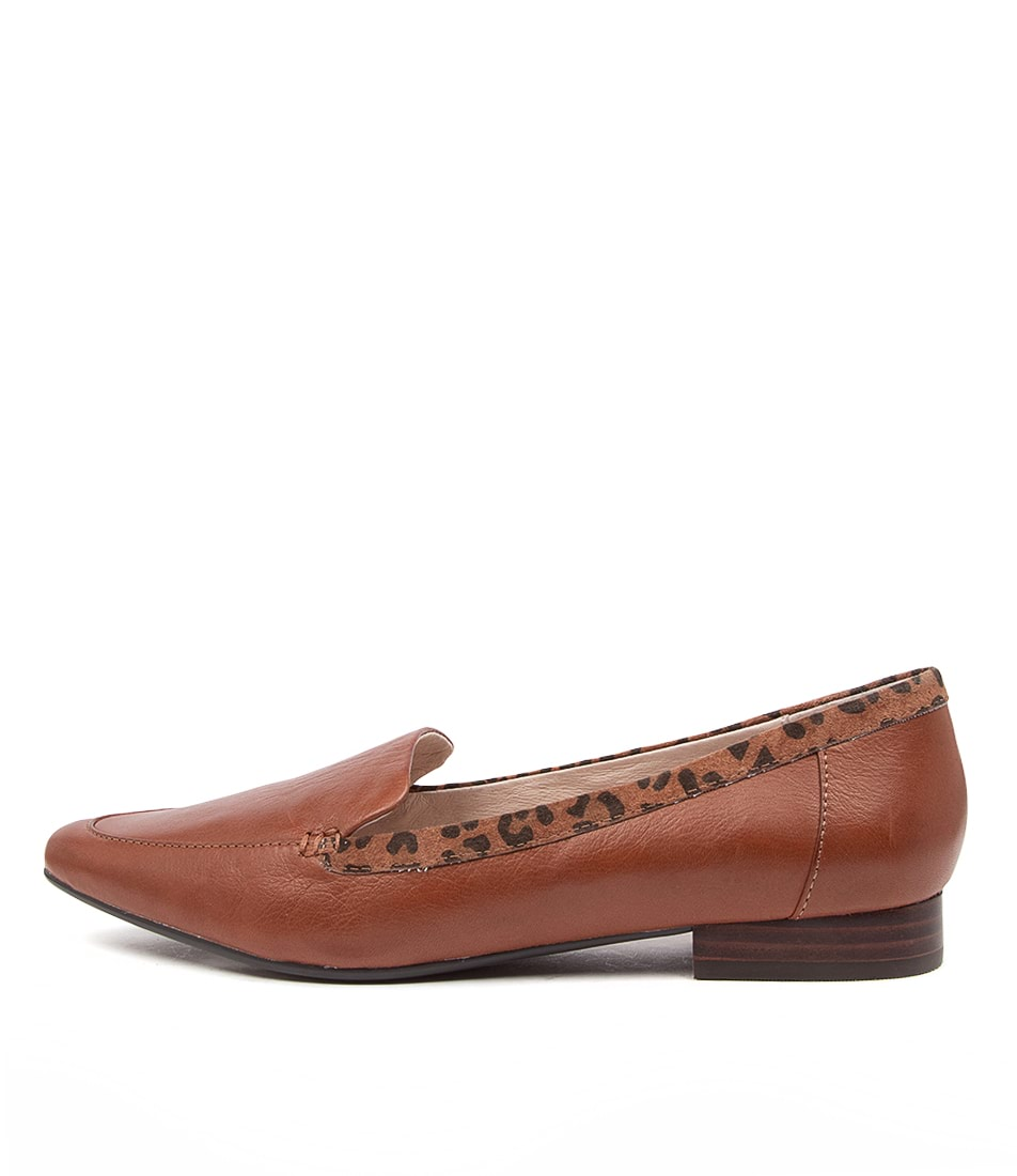 Buy Supersoft Latina Su Cognac Cognac & Black Flats online with free shipping