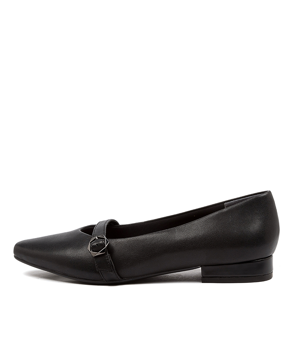 Buy Supersoft Logan Su Black Flats online with free shipping