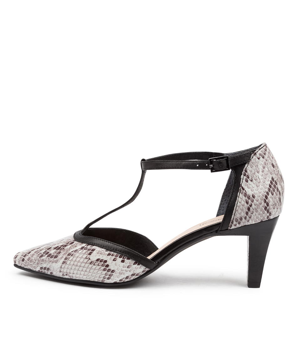Buy Supersoft Mai Su White Multi Black High Heels online with free shipping