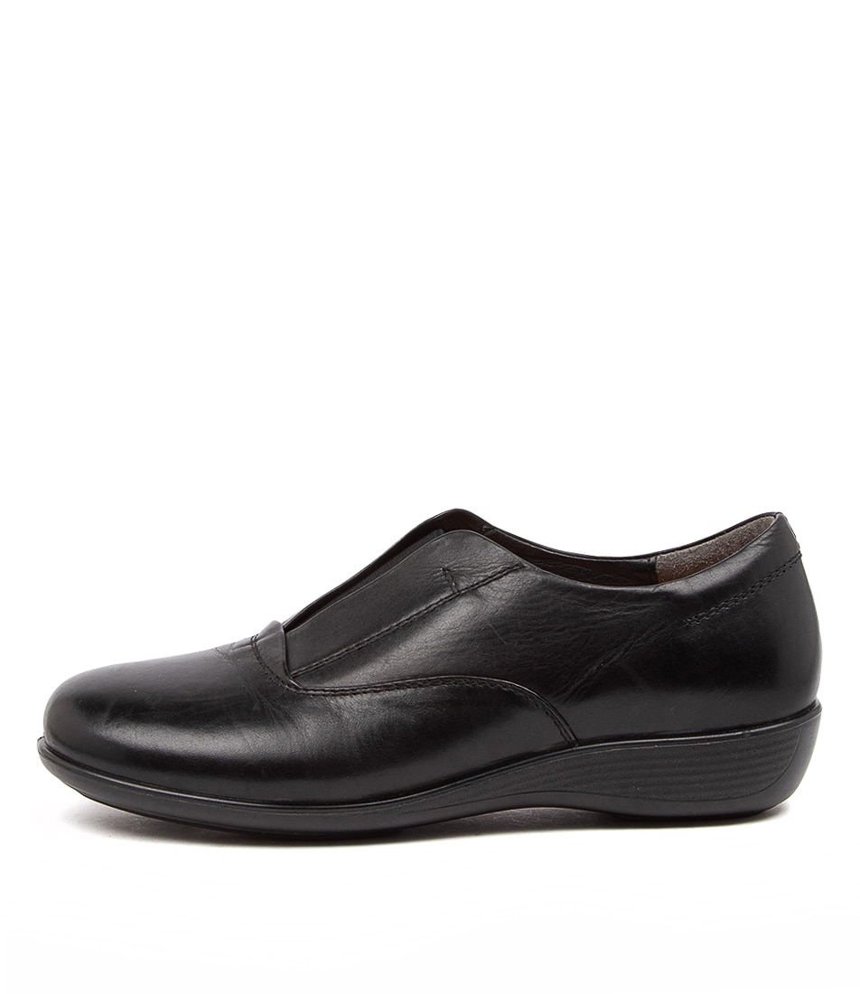 Buy Supersoft Pia2 Su Black Flats online with free shipping