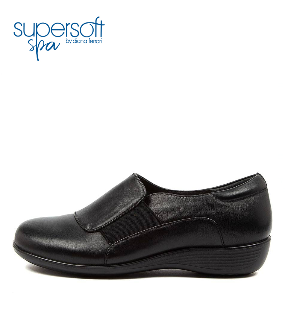 Buy Supersoft Piazza2 Su Black Flats online with free shipping