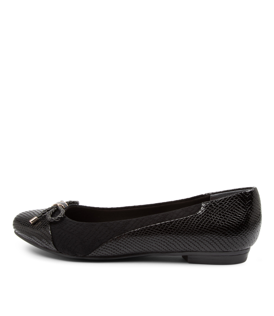 Buy Supersoft Cosmos Su Black Flats online with free shipping
