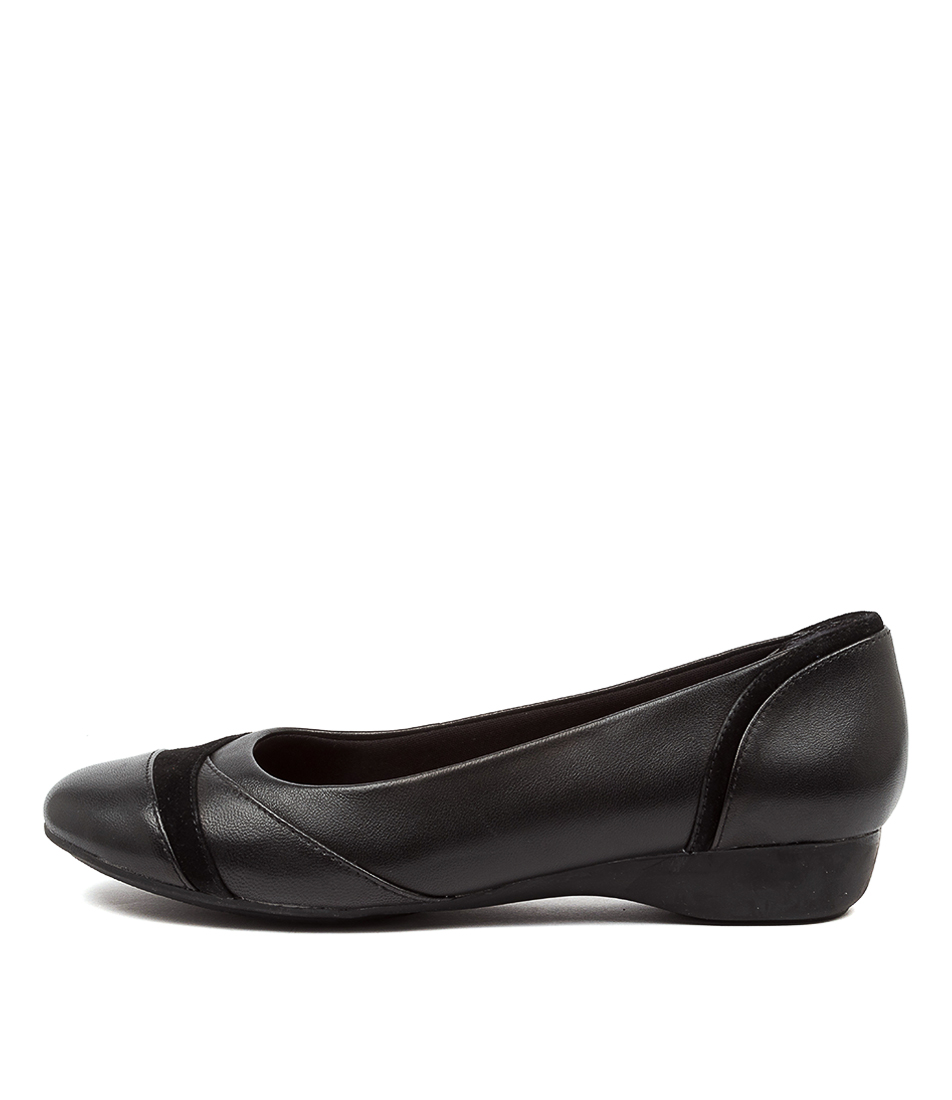 Buy Supersoft Elwood Su Black Flats online with free shipping
