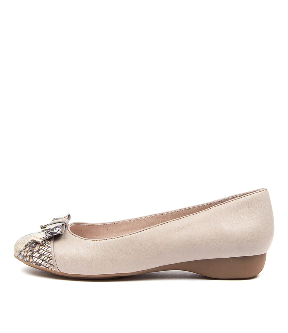 Buy Supersoft Epsom Su Taupe Python Taupe Flats online with free shipping