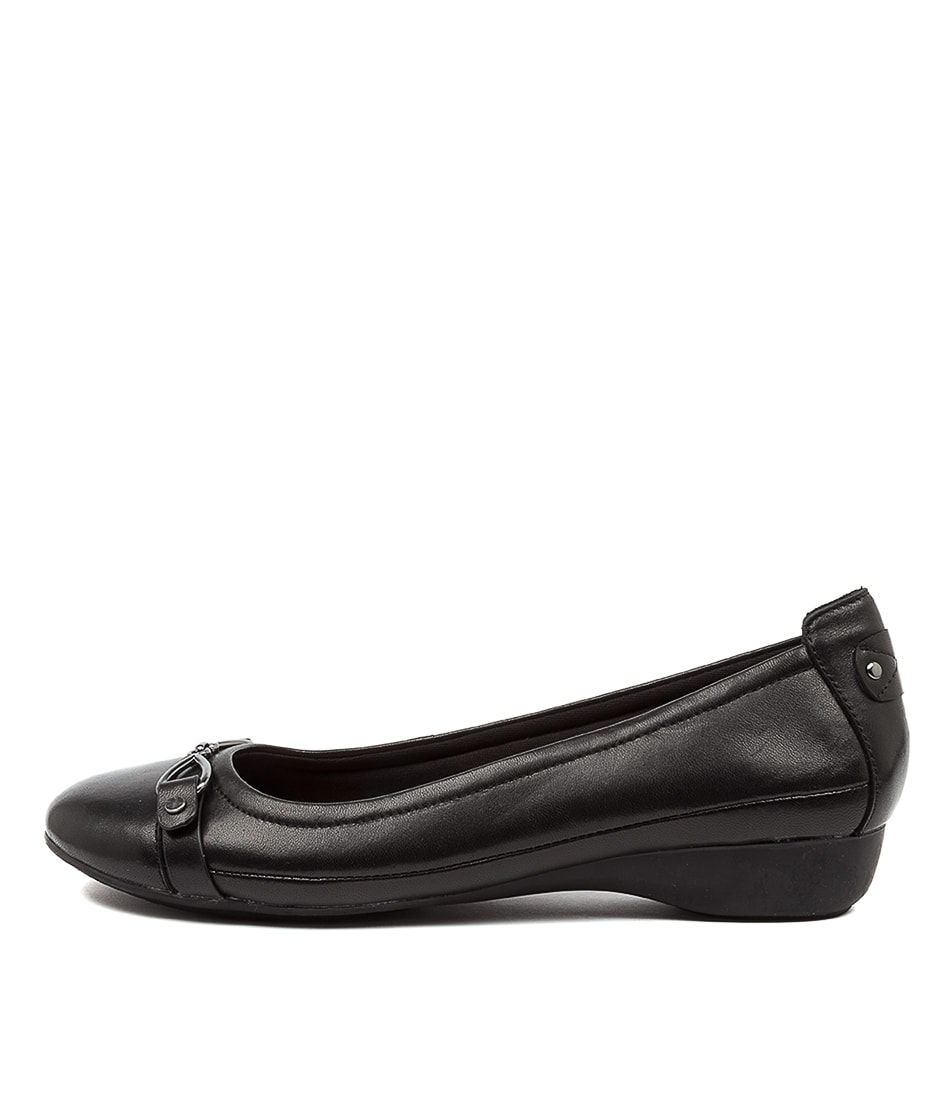 Buy Supersoft Eureka Su Black Flats online with free shipping