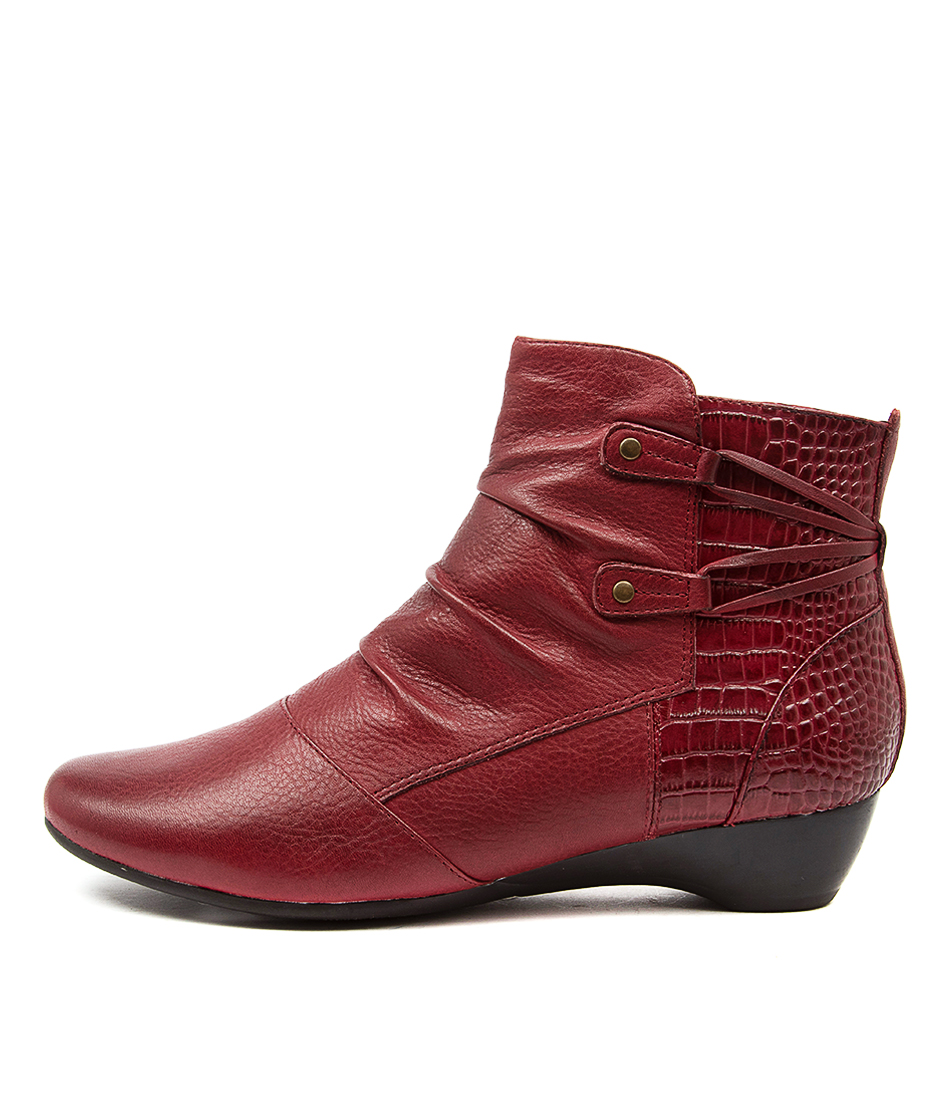 Buy Supersoft Dallas Su Dk Crimson Ankle Boots online with free shipping