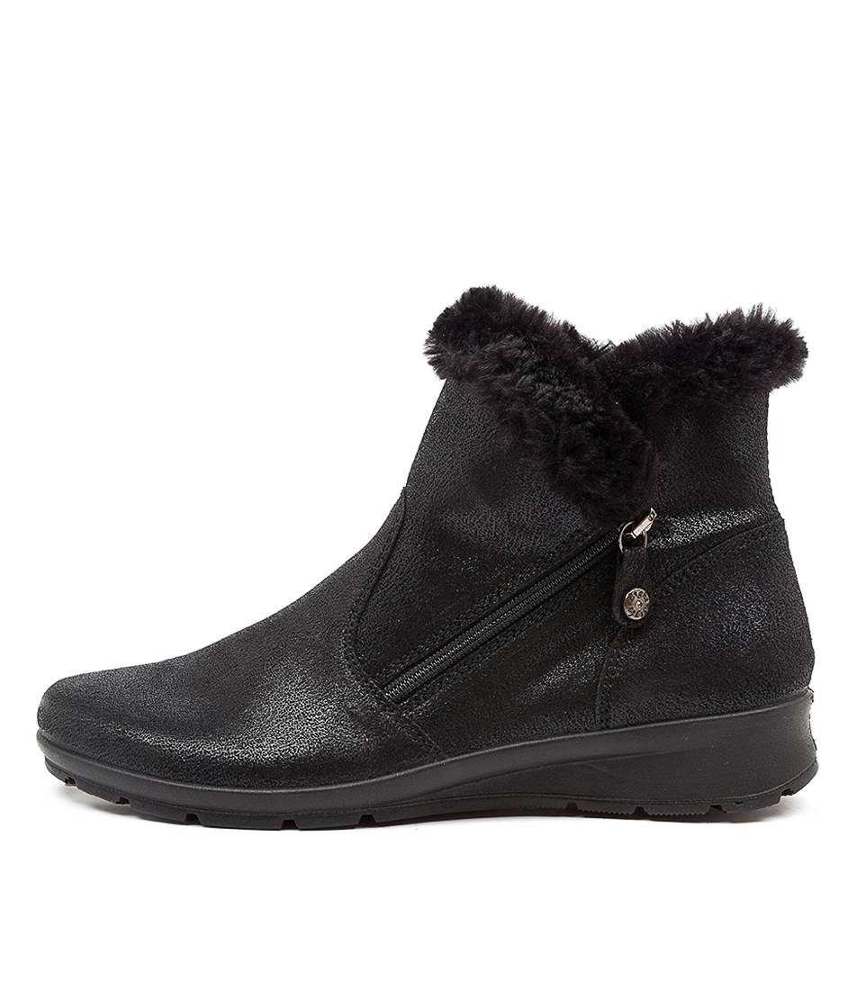 Buy Supersoft Kerang Su Black Ankle Boots online with free shipping