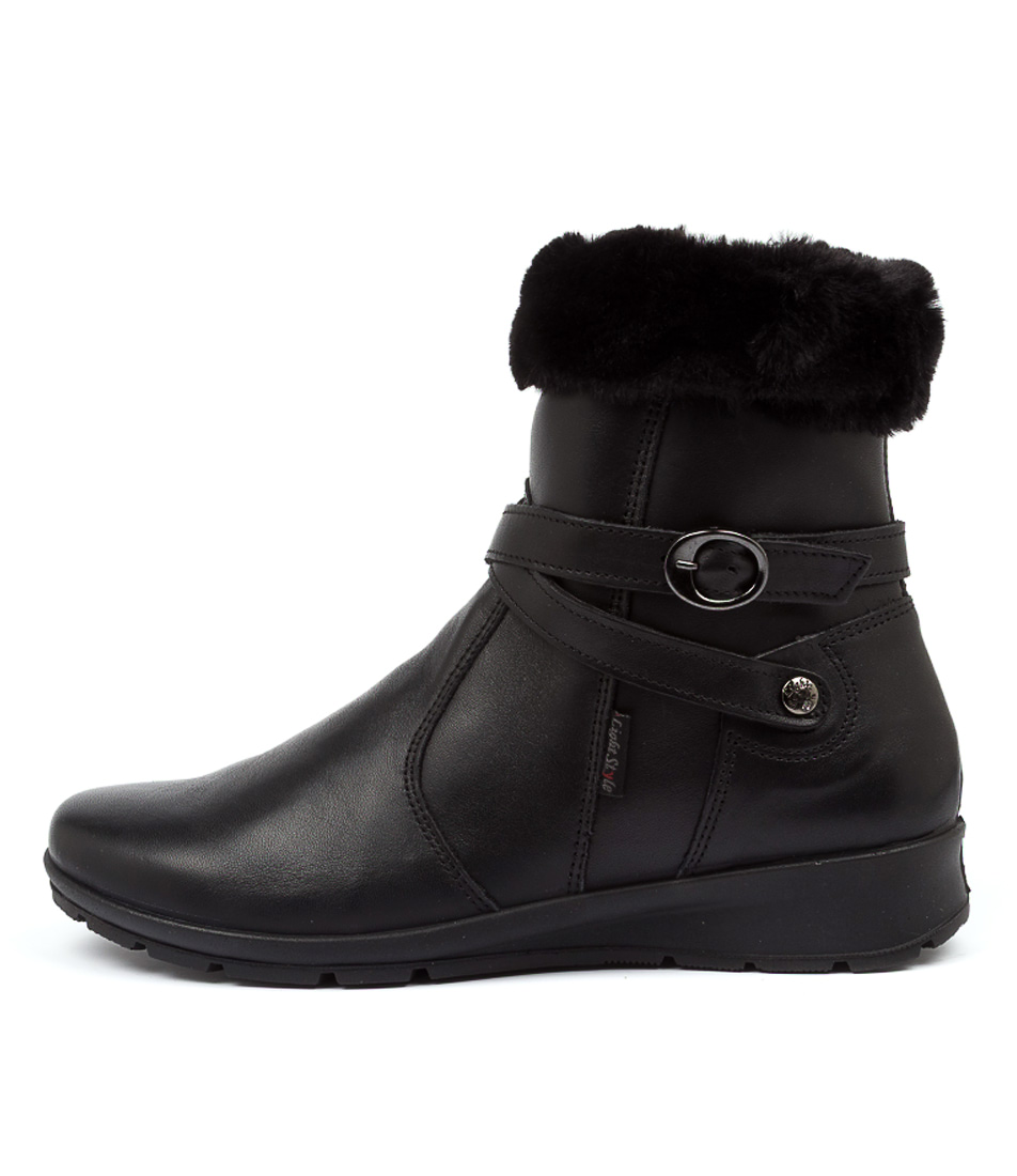 Buy Supersoft Kyneton Su Black Ankle Boots online with free shipping