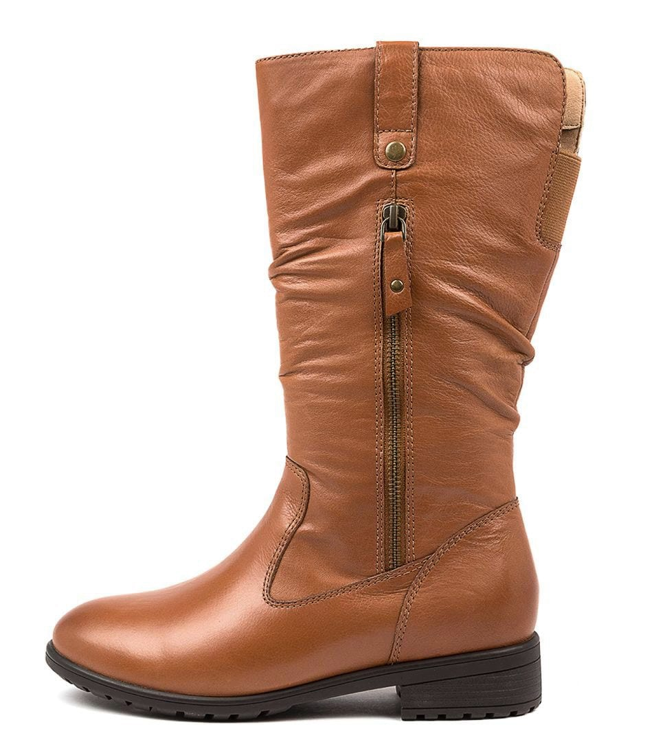 Buy Supersoft Ezra Su Dk Tan Calf Boots online with free shipping