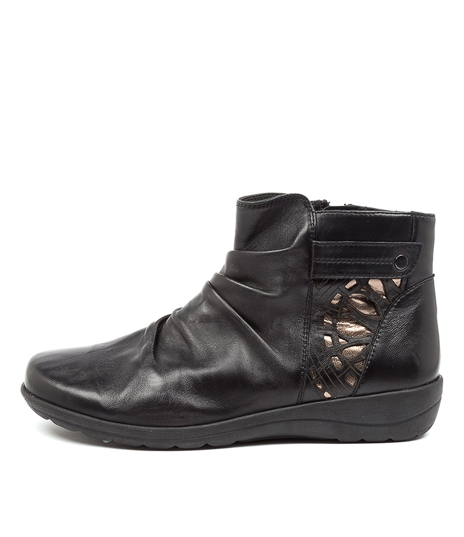 Buy Supersoft Digdy Su Black Gunmetal Ankle Boots online with free shipping