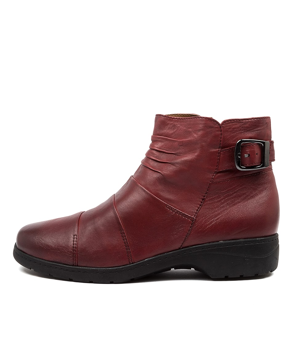 Buy Supersoft Jaber Su Deep Crimson Ankle Boots online with free shipping