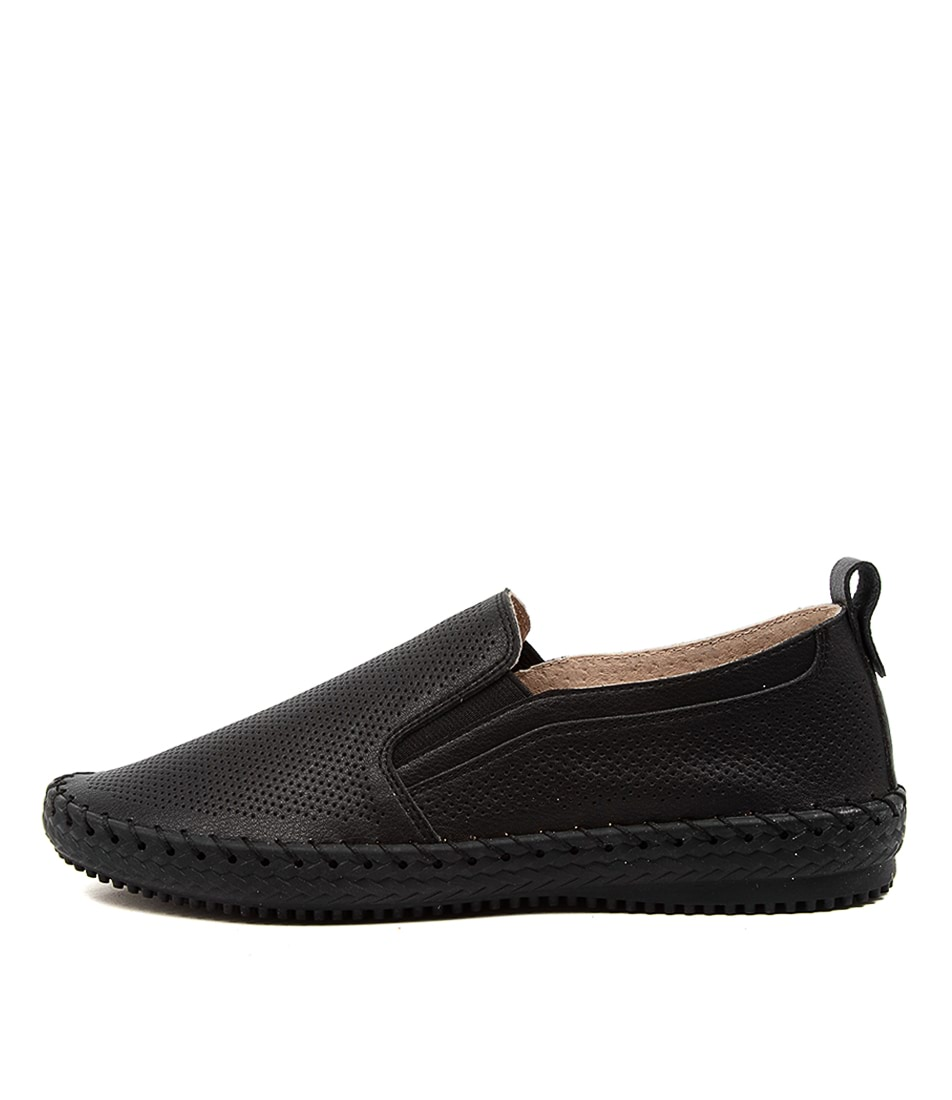 Buy Supersoft Wisteria Su Black Sole Flats online with free shipping