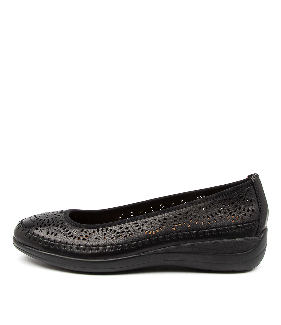 Buy Supersoft Bracken Su Black Flats online with free shipping