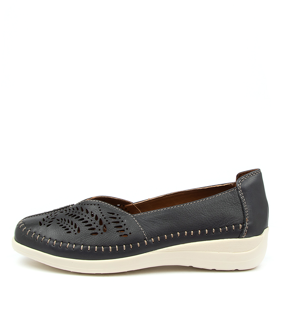 Buy Supersoft Brumby Su Navy Flats online with free shipping