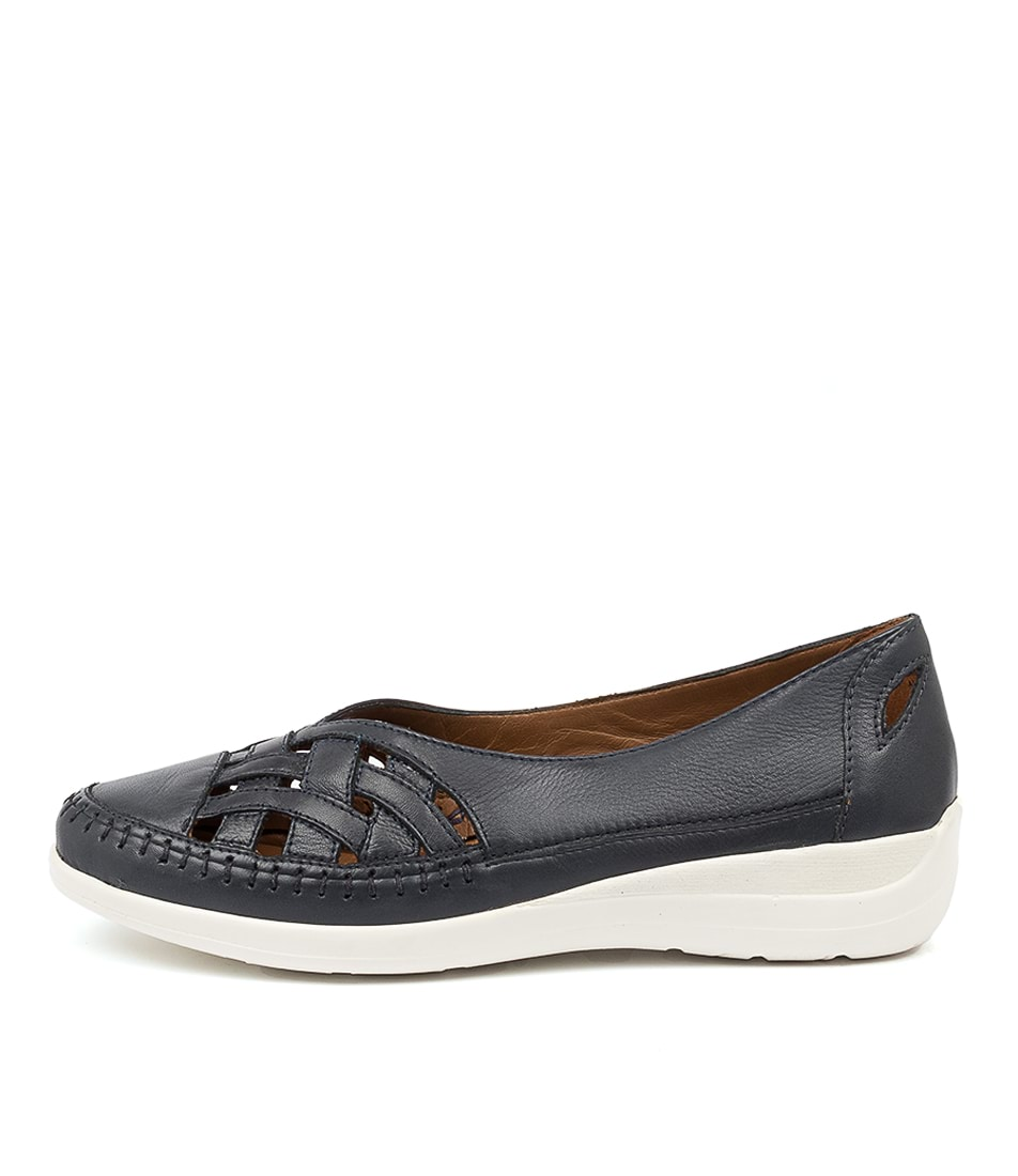 Buy Supersoft Bruin Su Navy Flats online with free shipping