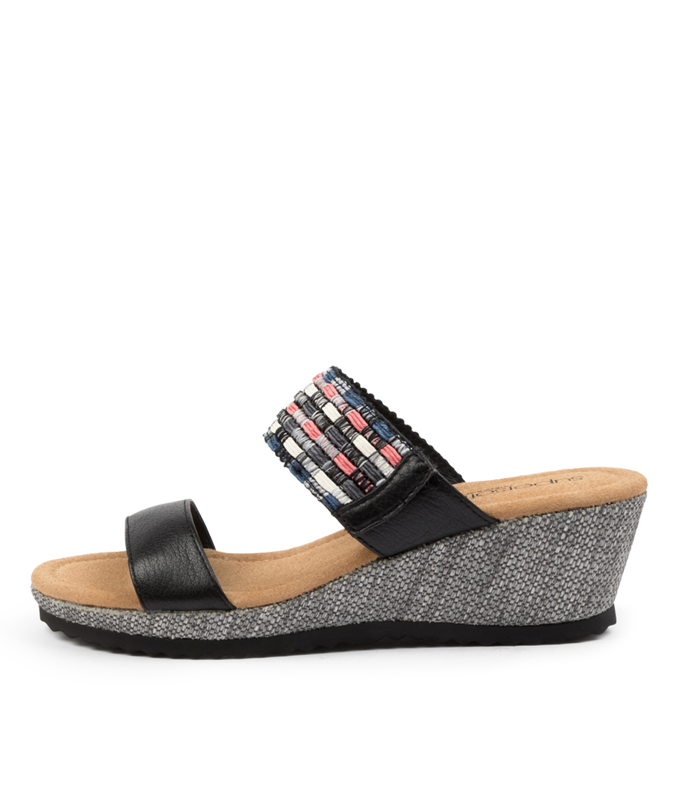 Buy Supersoft Billa Su Black Multi Heeled Sandals online with free shipping