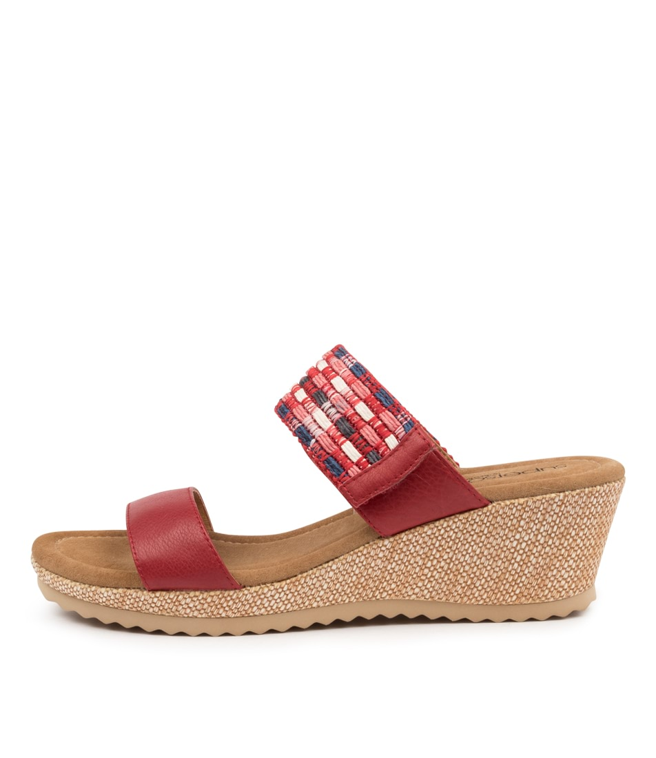 Buy Supersoft Billa Su Red Red Multi Heeled Sandals online with free shipping