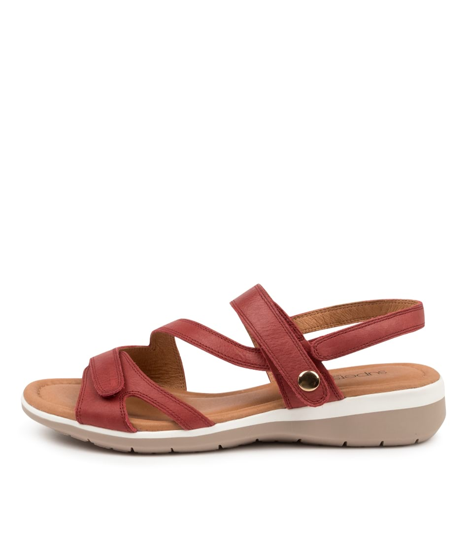 Buy Supersoft Fae Su Red Flat Sandals online with free shipping