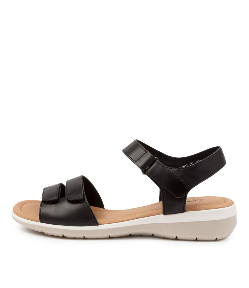 Buy Supersoft Fonzie Su Black Flat Sandals online with free shipping
