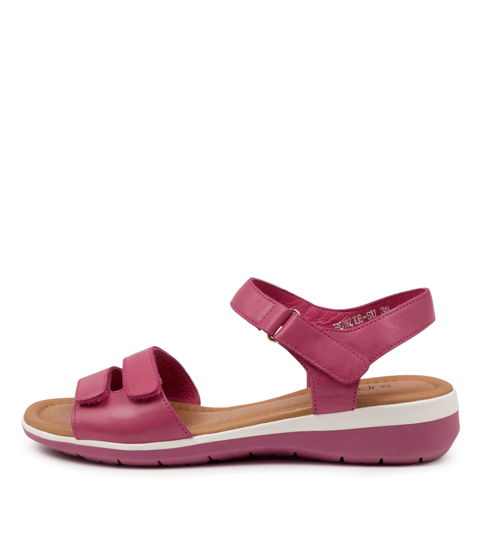 Buy Supersoft Fonzie Su Fuchsia Fuchsia Sole Flat Sandals online with free shipping