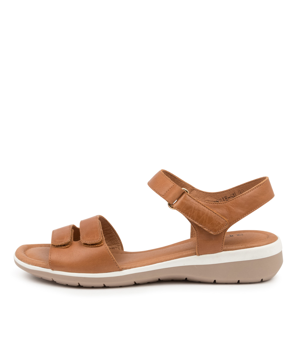 Buy Supersoft Fonzie Su Dk Tan Flat Sandals online with free shipping
