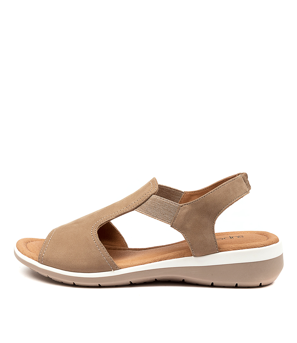 Buy Supersoft Fortune Su Taupe Flat Sandals online with free shipping