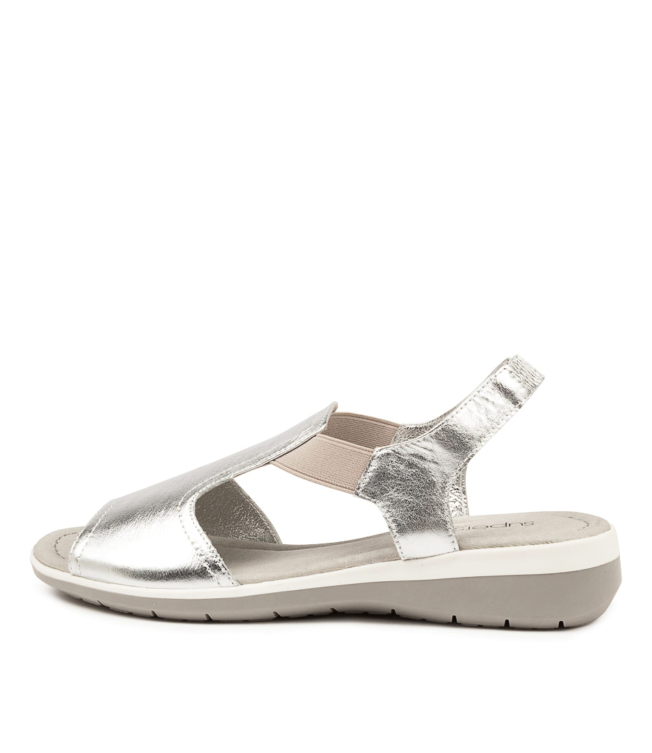 Buy Supersoft Fortune Su Silver Flat Sandals online with free shipping