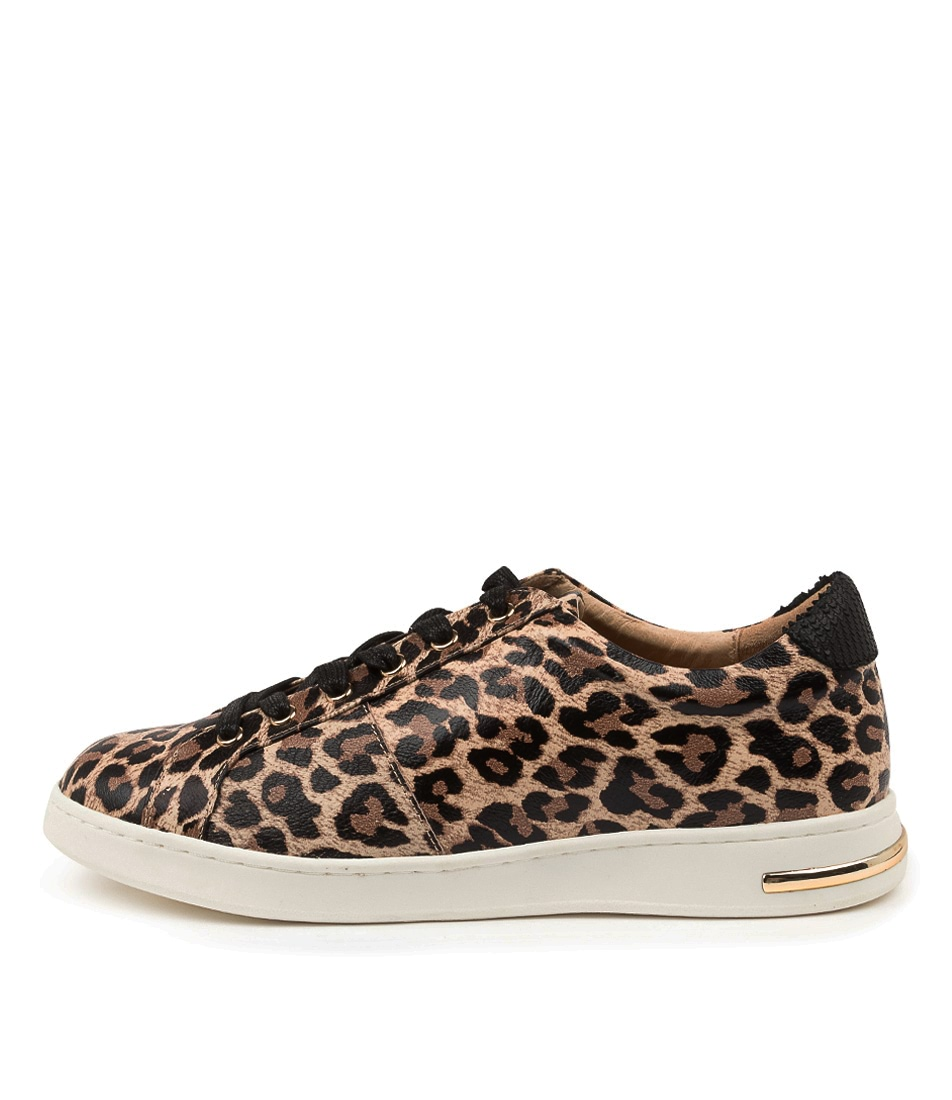 Buy Supersoft Canna Su Tan Leopard Black Sneakers online with free shipping