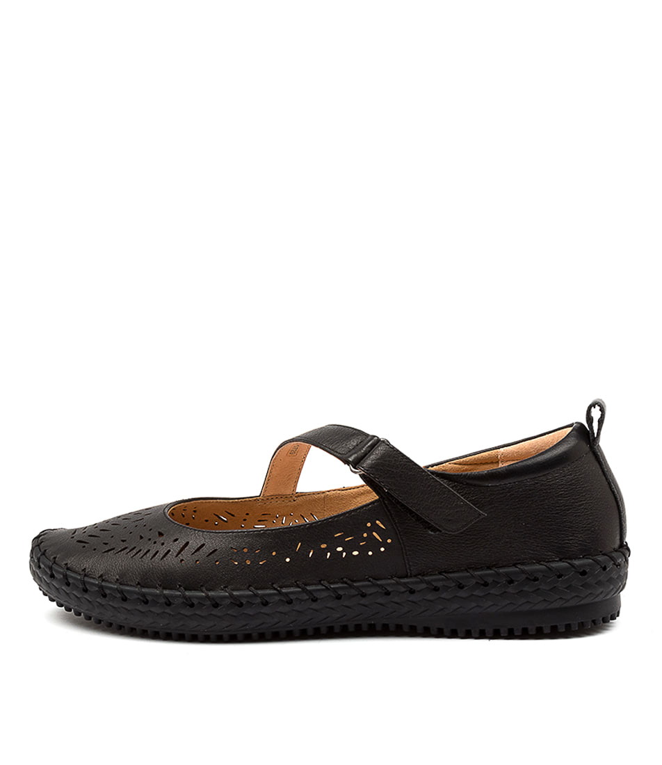 Buy Supersoft Wattle Su Black Sole Flats online with free shipping