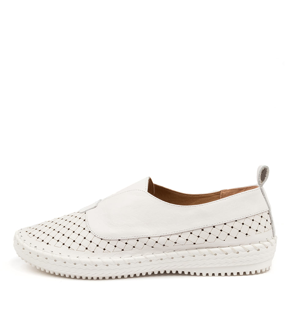 Buy Supersoft Weslee Su White Flats online with free shipping