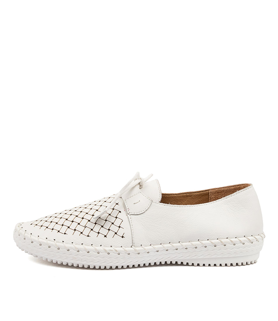 Buy Supersoft Wonder Su White Flats online with free shipping