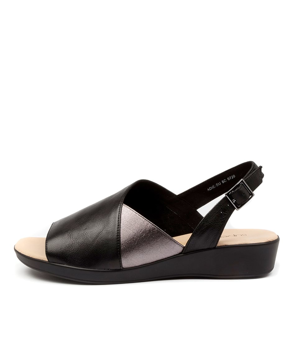Buy Supersoft Adie Su Black Sandals Flat Sandals online with free shipping