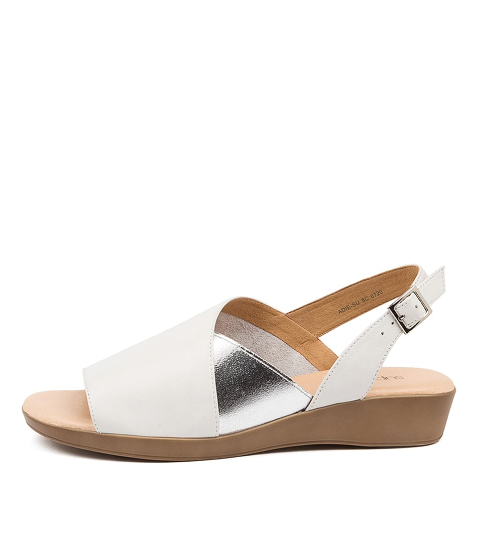 Buy Supersoft Adie Su White Sandals Flat Sandals online with free shipping