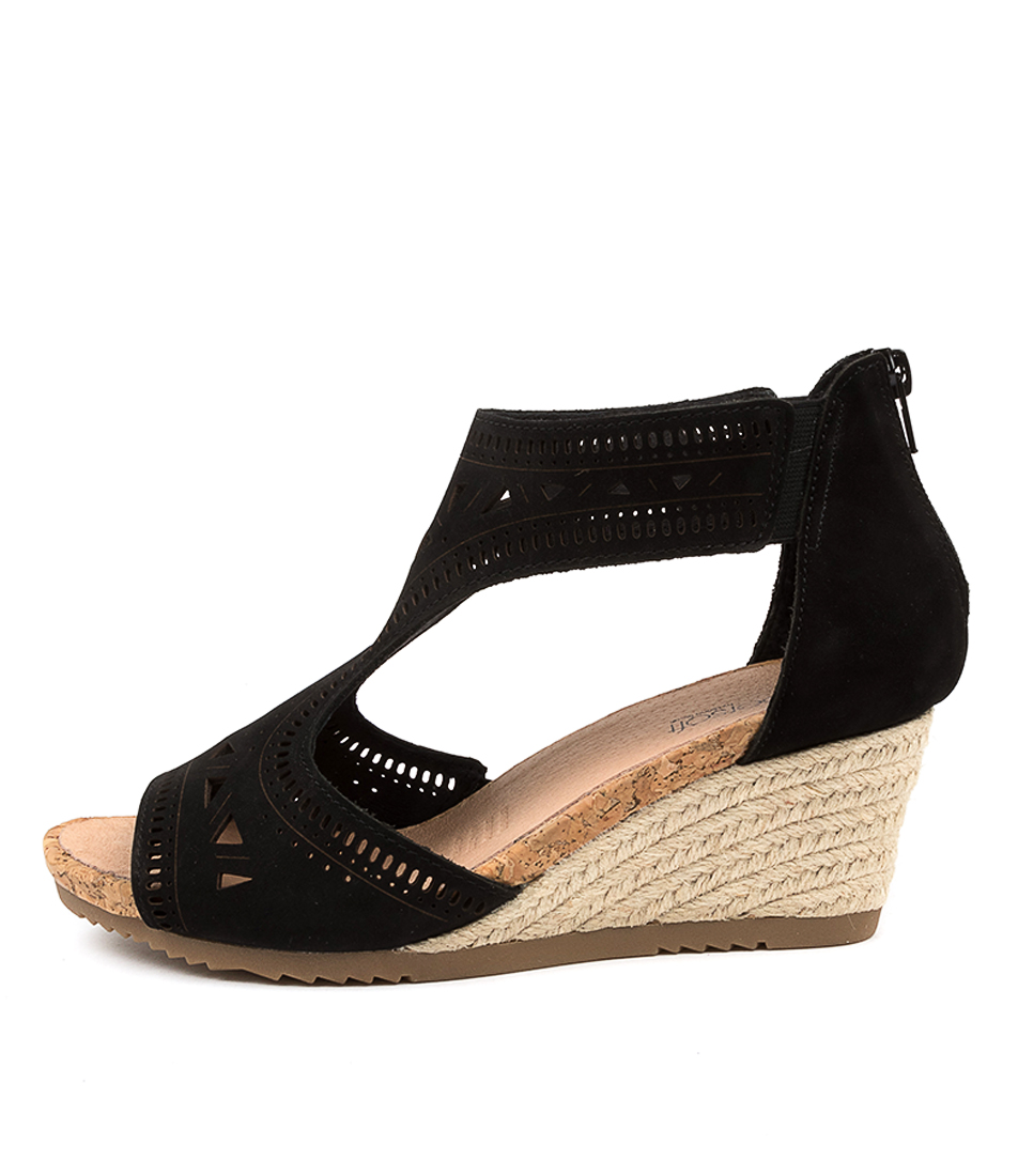 Buy Supersoft Alain Su Black Heeled Sandals online with free shipping