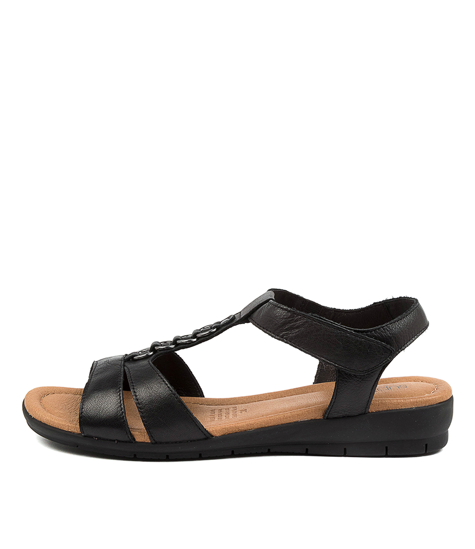 Buy Supersoft Frankie Su Black Flat Sandals online with free shipping
